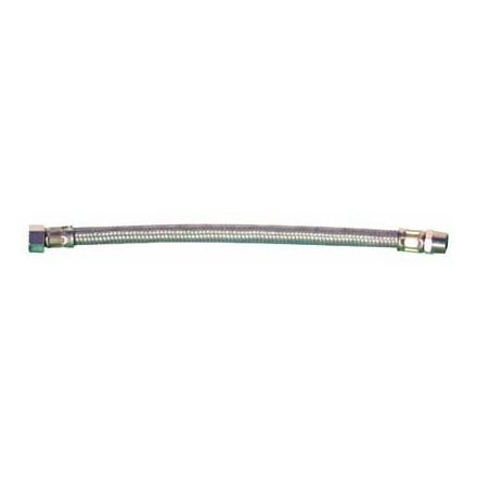FLESSIBILE ACCIAIO INOX PER ACQUA DA 3/8X 3/8 MF- LUNGH.350 MM