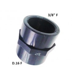 """MANICOTTO PVC D.16 F X 3/8"""" F"""