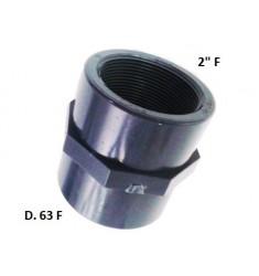 """MANICOTTO PVC D.63 F X 2"""" F"""