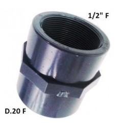"""MANICOTTO PVC D.20 F X 1/2"""" F"""