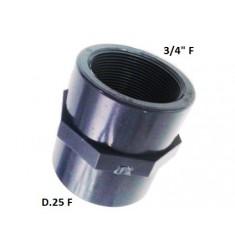 """MANICOTTO PVC D.25 F X 3/4"""" F"""