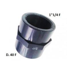 """MANICOTTO PVC D.40 F X 1""""1/4 F"""