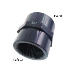 """MANICOTTO PVC D.75 F X 2""""1/2 F"""