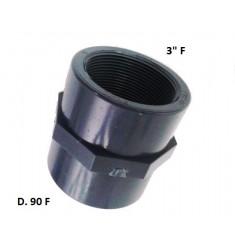 """MANICOTTO PVC D.90 F X 3"""" F"""