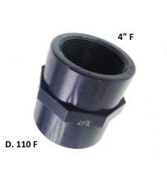 """MANICOTTO PVC D.110 F X 4"""" F"""