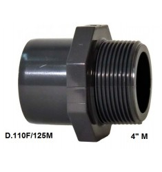 """ADATTATORE PVC D. 110 F x 125 M x 4"""" M"""