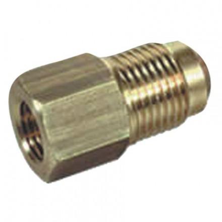 RIDUZIONE OTTONE TUBI RAME  3/8 M X 1/4 F
